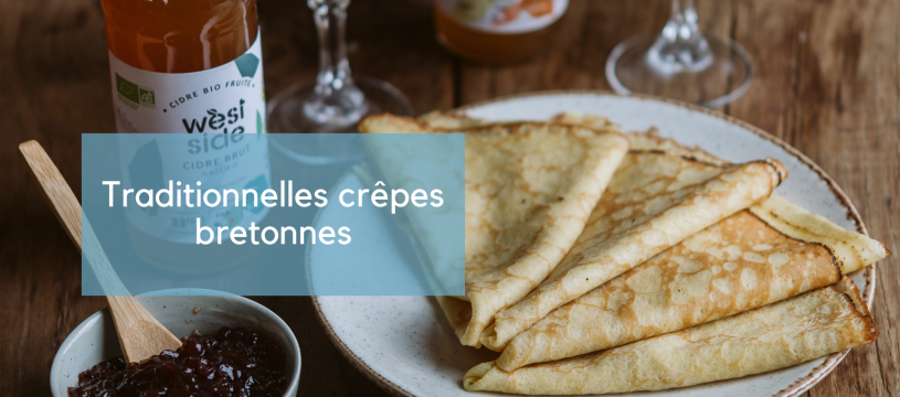 Traditionnelles crêpes bretonnes